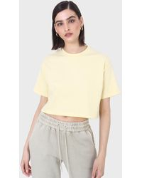 Glassworks Yellow Perfect Cropped Short Sleeve Tee