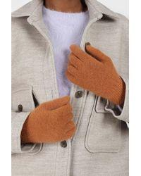Glassworks Camel Mohair Gloves - Brown