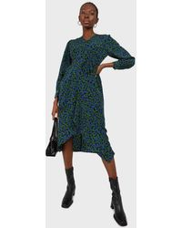 Glassworks Green And Teal Floral Wrap Style Maxi Dress