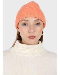 Glassworks Pale Orange Mohair Beanie Hat