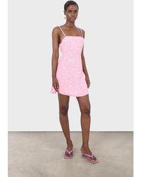 Glassworks Pink And Ivory Animal Print Mini Dress