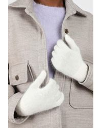 Glassworks White Mohair Gloves