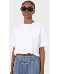 Glassworks White Perfect Cropped Short Sleeve Tee
