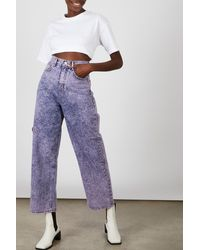 Glassworks Purple Stone Wash Wide Leg Jeans