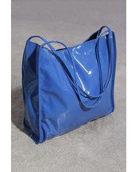 Glassworks Bright Blue High Shine Pvc Tote Bag