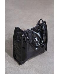 Glassworks Black High Shine Pvc Tote Bag
