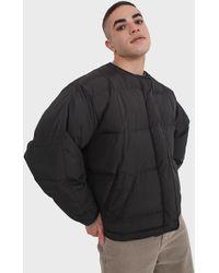 Glassworks Black Vegan Leather Trim Puffer Jacket
