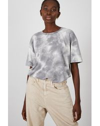 Glassworks Black And White Tie Dye T-shirt - Multicolour