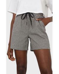 Glassworks Black And White Gingham Drawstring Shorts