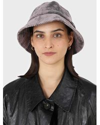 Glassworks Lilac And Black Tie Dye Bucket Hat - Multicolour
