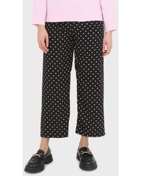 Glassworks Black And White Polka Dot Loose Fit Silky Trousers
