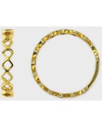 Glassworks Gold Zig Zag Diamonds Ring - Multicolour