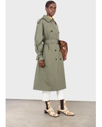 Glassworks Khaki Classic Double Breasted Trench Coat - Multicolour