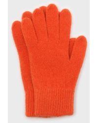 Glassworks Bright Orange Mohair Gloves