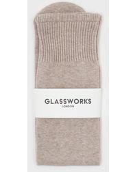 Glassworks Beige Knee High Socks - Natural