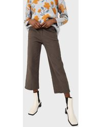 Glassworks Khaki Straight Thick Loose Fit Trousers - Multicolour