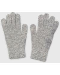 Glassworks Light Grey Mohair Gloves