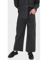 Glassworks Black Wide Leg Panel Front Pocket Jeans