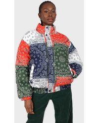 Glassworks Multicolour Paisley Patchwork Puffer Jacket