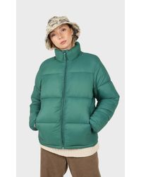 Glassworks Teal Thick Classic Puffer Jacket - Green