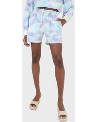 Glassworks Blue And Green Tie Dye Shorts