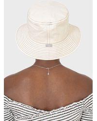 Glassworks White And Black Contrast Stitch Bucket Hat - Multicolour
