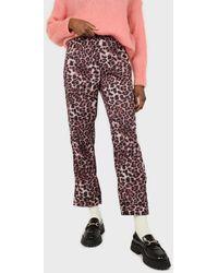 Glassworks Brown Leopard Print Trousers Pyjama Set - Multicolour