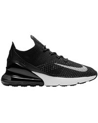 Nike Air Max 270 Flyknit Running Shoes - Black