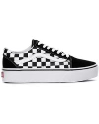 Vans Primary Check Old Skool Black & White Shoes