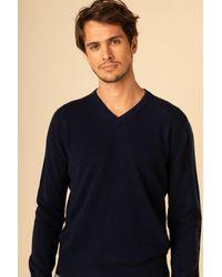 Gobi Cashmere USA V-neck - Blue