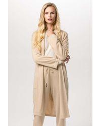 Gobi Cashmere USA Shawl Collared Robe - Natural
