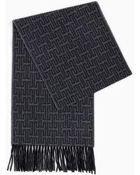 Gobi Cashmere USA Woven Checked Tassel Scarf - Black