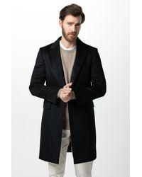 Gobi Cashmere USA Classic Lapel Coat - Black