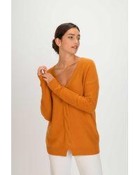 Gobi Cashmere USA V-neck Jumper - Orange