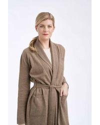 Gobi Cashmere USA Shawl Collar Long Robe - Brown