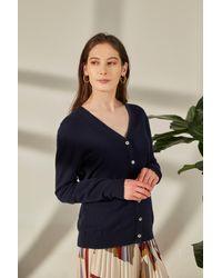 Gobi Cashmere USA - V-neck Button Cardigan - Lyst