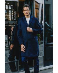 Gobi Cashmere USA Classic Lapel Coat - Blue