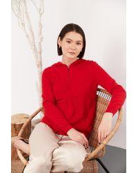 Gobi Cashmere USA Full-zip Hoodie - Red