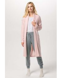 Gobi Cashmere USA Shawl Collared Robe - Pink