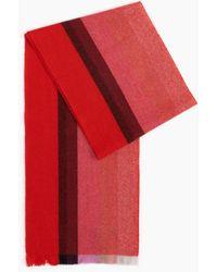 Gobi Cashmere USA Woven Striped Scarf - Red