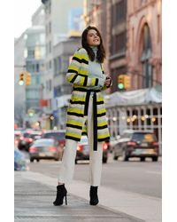Gobi Cashmere USA Striped Knit Robe - Yellow