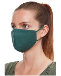 Goddiva Plain Fashion Face Mask - Green