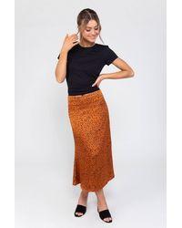 Zibi London Gigi Gold Slip Skirt - Multicolour