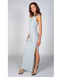 Revie London Angelina Maxi Dress In Dove Gray