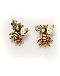 Simon Kemp Jewellers Bee Earrings - Metallic