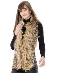 Goddiva Faux Fur Scarf - Multicolour
