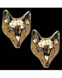 Simon Kemp Jewellers Fox Head Earrings - Metallic