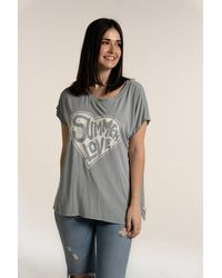 A Postcard From Brighton Summer Love Tee - Grey