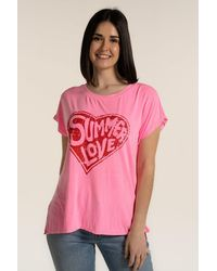 A Postcard From Brighton Summer Love Tee - Pink