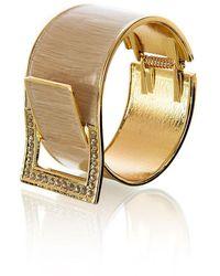 Goddiva Diamante Embellished Buckle Bangle* - Metallic